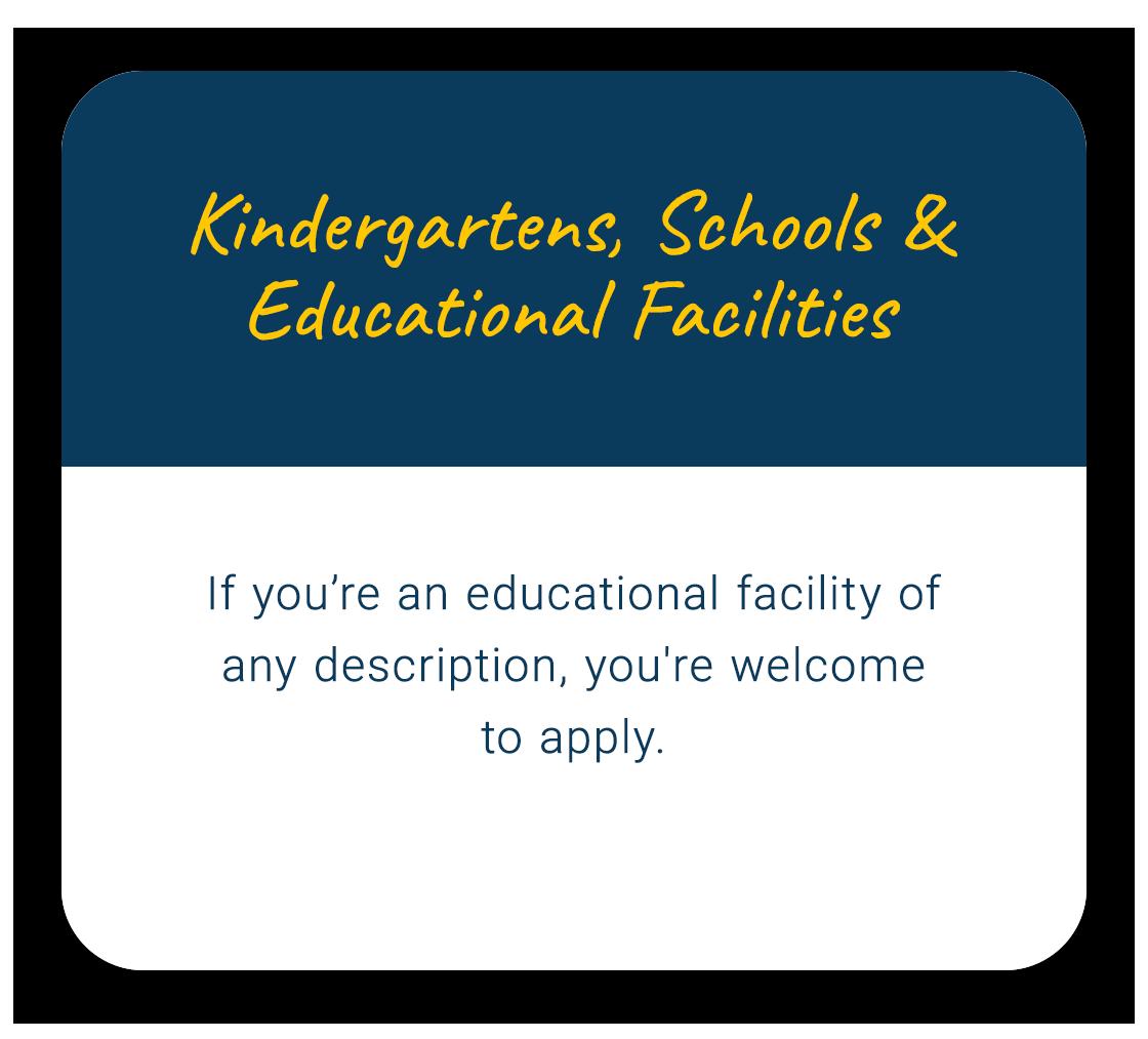 Kindergartens, Schools & Educational Faclities