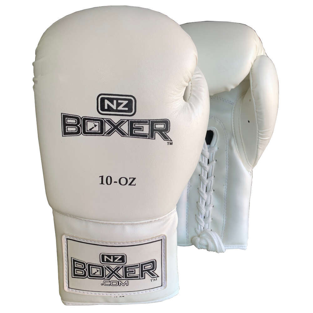 white pair of boxer gloves